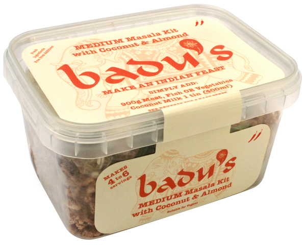 Badu's Medium Masala Kit with Coconut and Almond